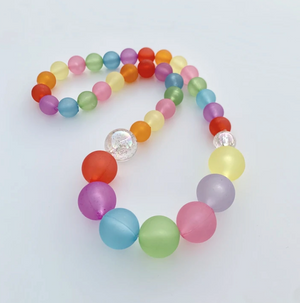 Load image into Gallery viewer, Beaded Rainbow Necklace