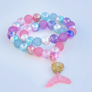 Mermaid Tail Beaded Necklace