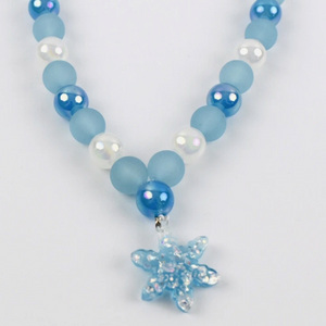 Snowflake Beaded Necklace
