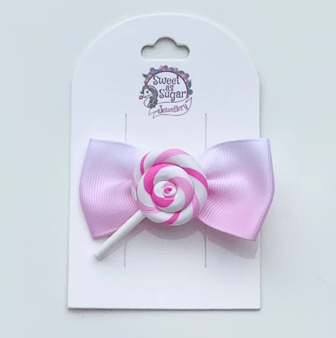 Pink Lollipop Hair Bow