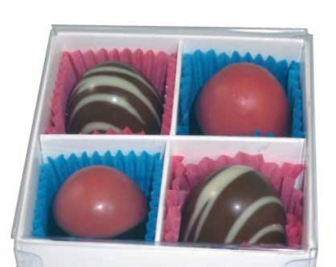 4 Cavity Chocolate Box