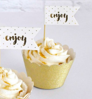 Load image into Gallery viewer, Gold Glitter Cupcake Wrapper