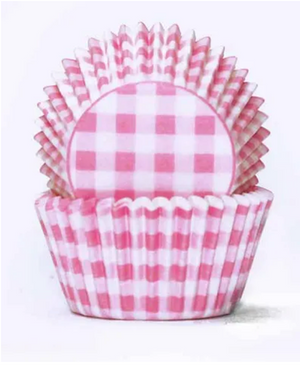 Load image into Gallery viewer, Pastel Pink Gingham Baking Cups