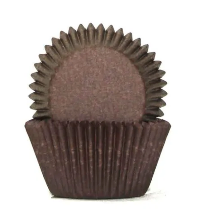 Chocolate Brown Baking Cups