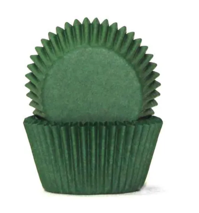 Dark Green Baking Cups