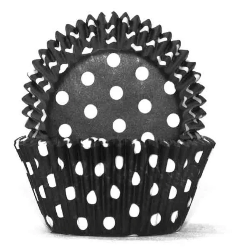 Load image into Gallery viewer, #1 Black Polka Dots Baking Cups