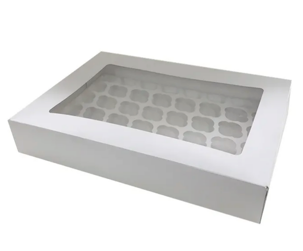 White Display Cupcake Box - 48 Holes
