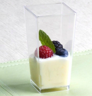 Tall Squared Dessert Cups - 12 Pack