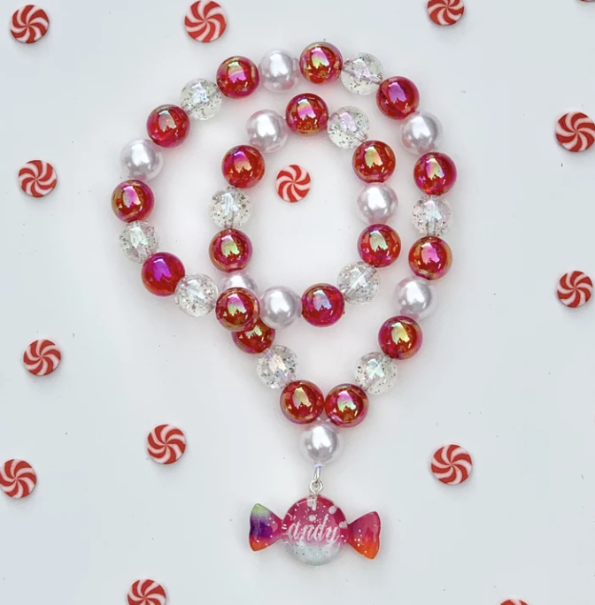 Christmas Candy Beaded Necklace