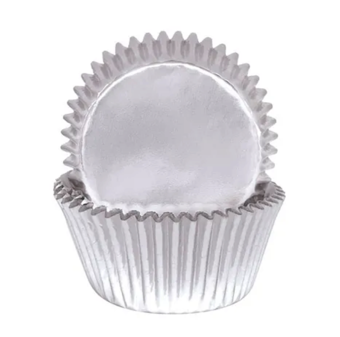 Load image into Gallery viewer, 408 Silver Foil baking Cups