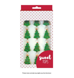 Christmas Tree Sugar Decorations | 12 Pieces