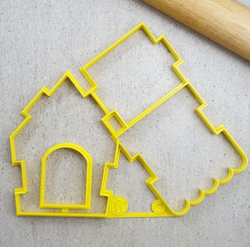 Load image into Gallery viewer, Interlocking Gingerbread House Cutter