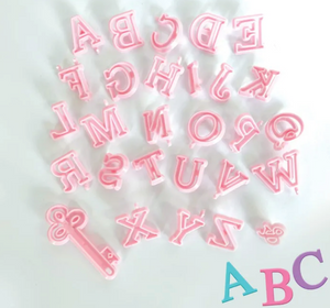 Pink Uppercase Alphabet - Cookie Cutters