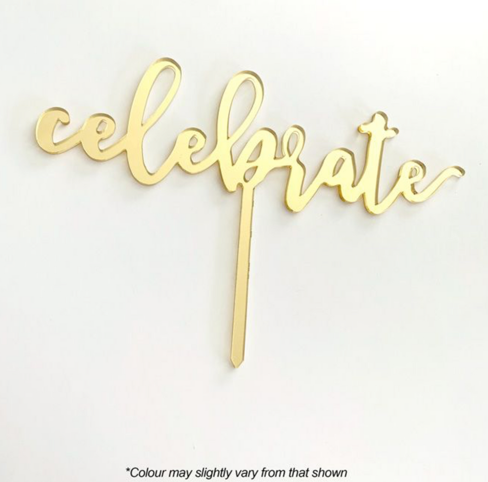 Load image into Gallery viewer, Cake Topper - Celebrate