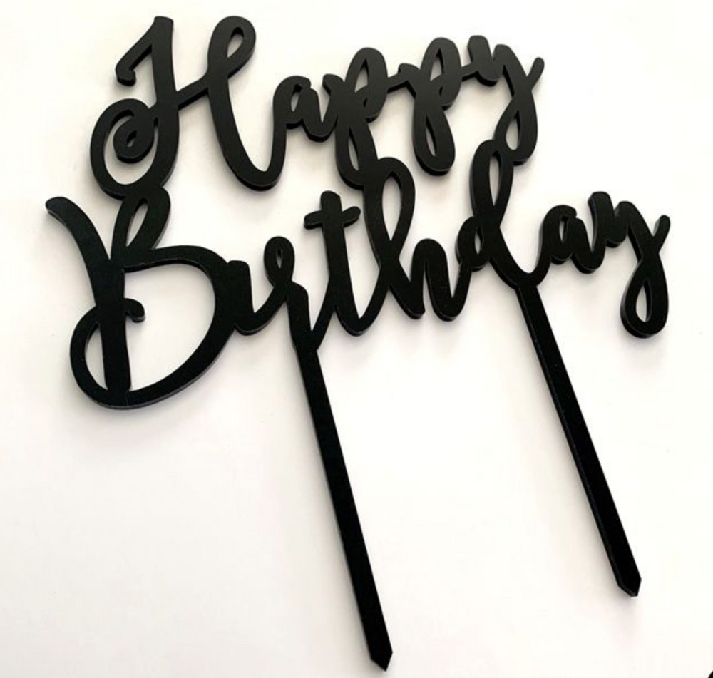 Load image into Gallery viewer, Cake Topper - Happy Birthday