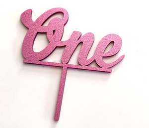 Cake Topper - One