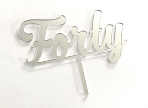 Cake Topper - Forty