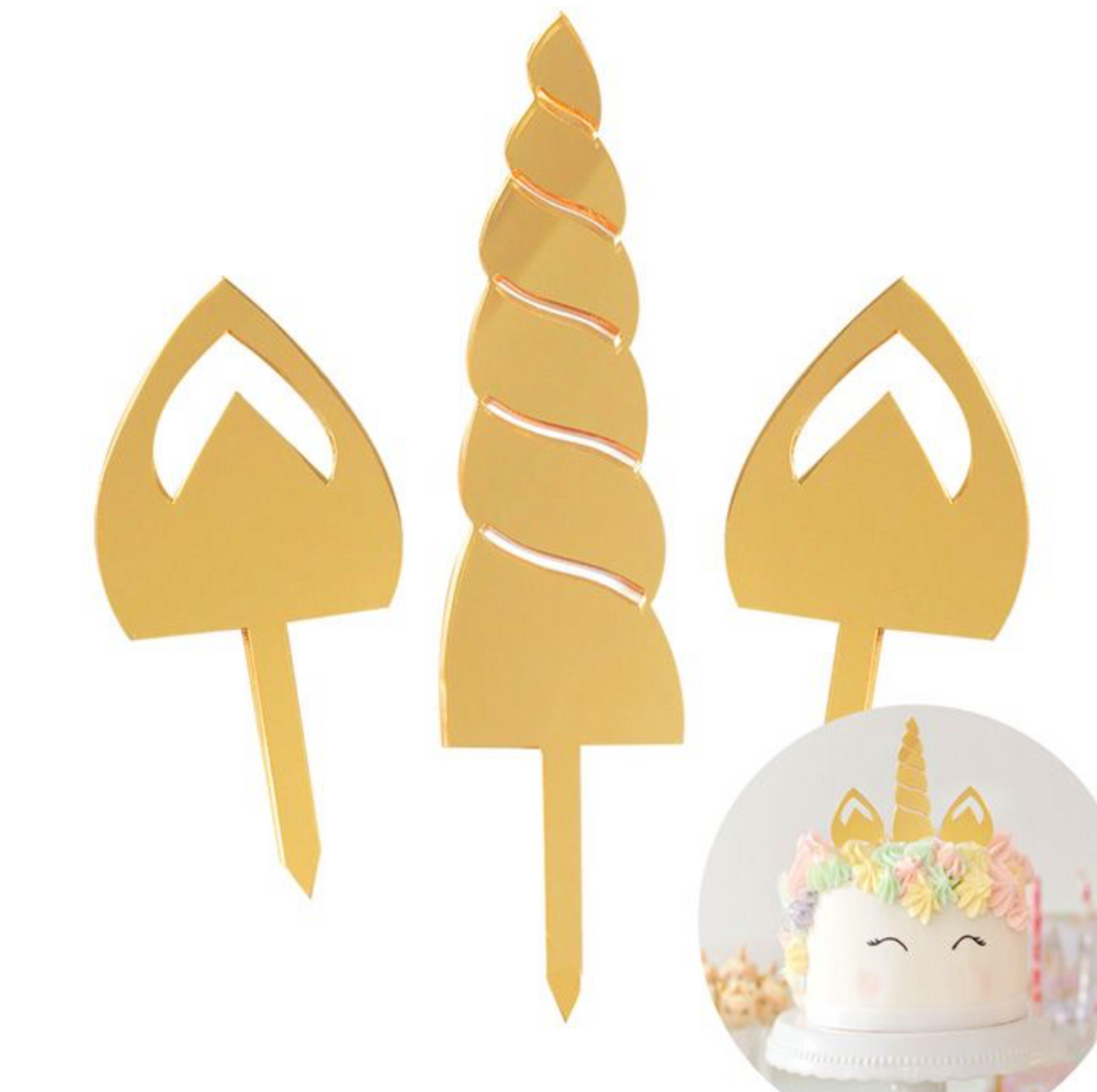 Load image into Gallery viewer, Cake Topper - Unicorn Ears
