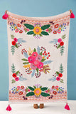 Good Karma Embroidered/Crochet Throw - Green Orchid Soap Co.