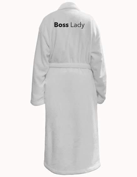 Robe - Boss Lady Unisexin White - Green Orchid Soap Co.