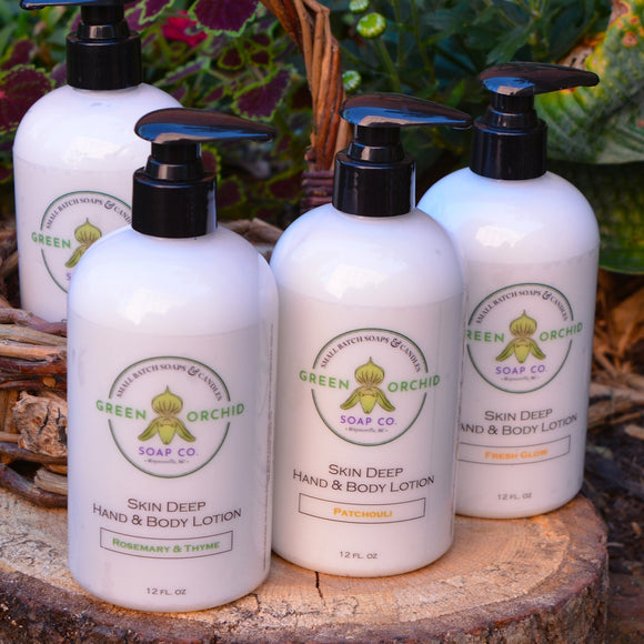 Skin Deep Hand & Body Lotion - Green Orchid Soap Co.