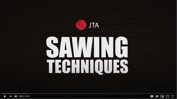 Sawing techniques to perfect the art of using the Japanese saw
