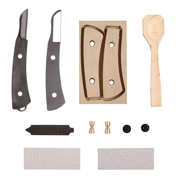 It's my knife - Whitebark Magnolia kit with Safety Guard and Spoon - Japanese Tools Australia