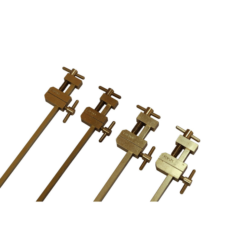 Set of Hatagane Solid Brass Clamps - 4 pcs - Japanese Tools Australia