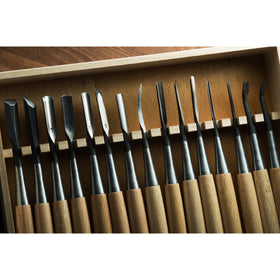 Kawasei Tsurugi Carving Tool Set, 15 pieces