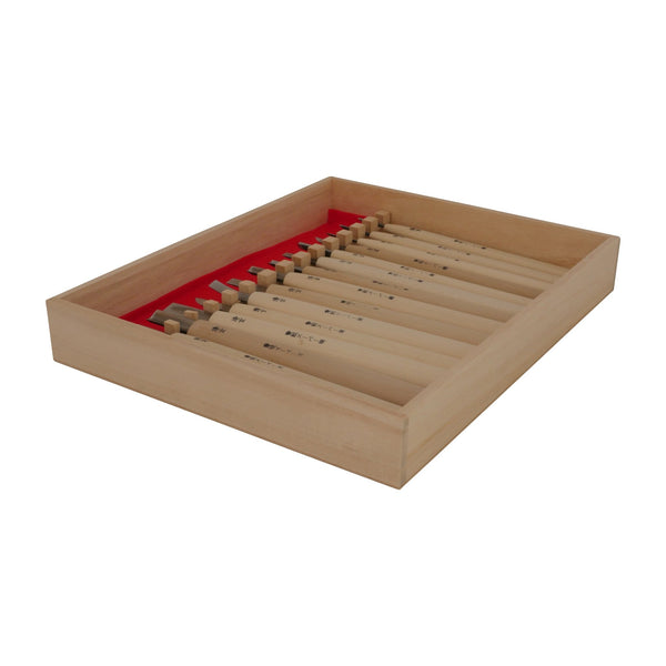 Kawasei Kanmuri Carving Tool Set, 15 pieces - Japanese Tools Australia