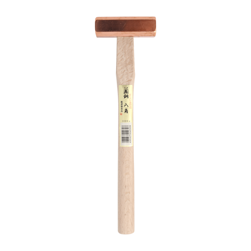 Copper 8-Kaku Hammer 300g by SUSA with White Oak handle - Japanese Tools Australia
