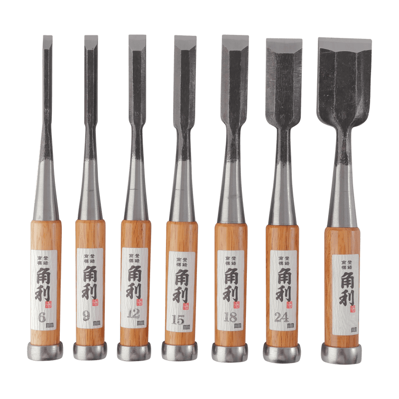Japanese Bench Chisel - Set of 7