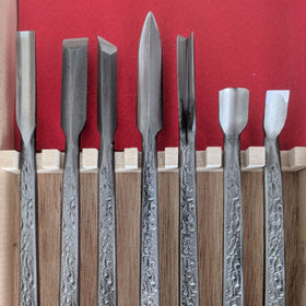 Ryu 7 pcs carving chisels set by Kawasei
