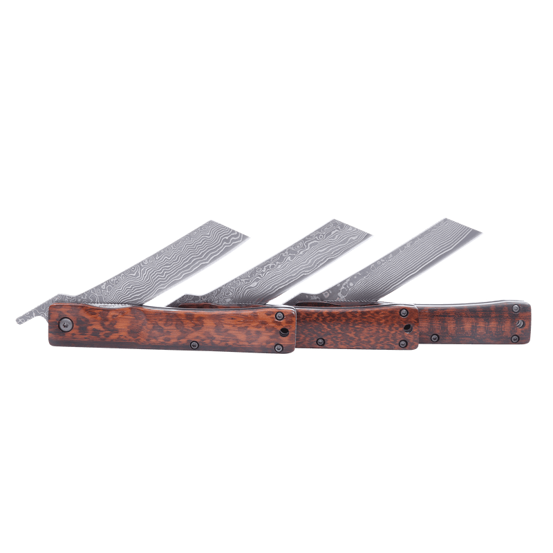 Traditional Japanese Damascus Folding Pocket Knife - Japanese Tools Australia