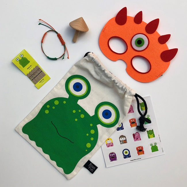 Green Monster Fun Bag
