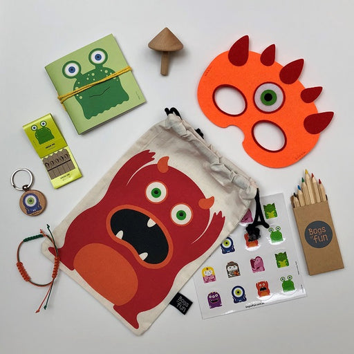Orange Monster Fancy Bag