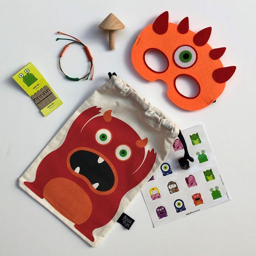 Orange Monster Fun Bag