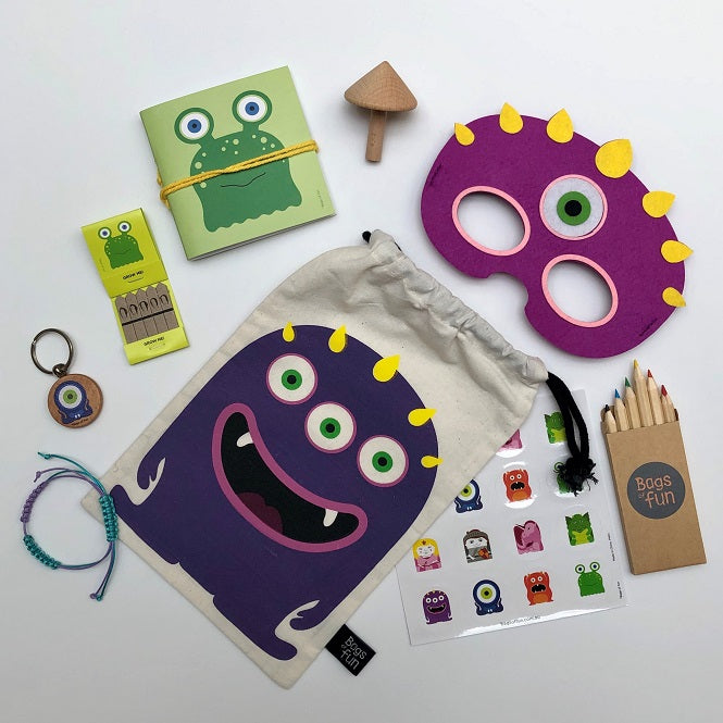 Purple Monster Fancy Bag