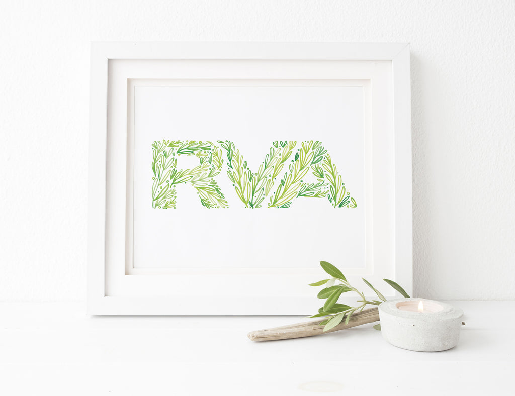 RVA Greenery 8x10 Print - Delightful Things