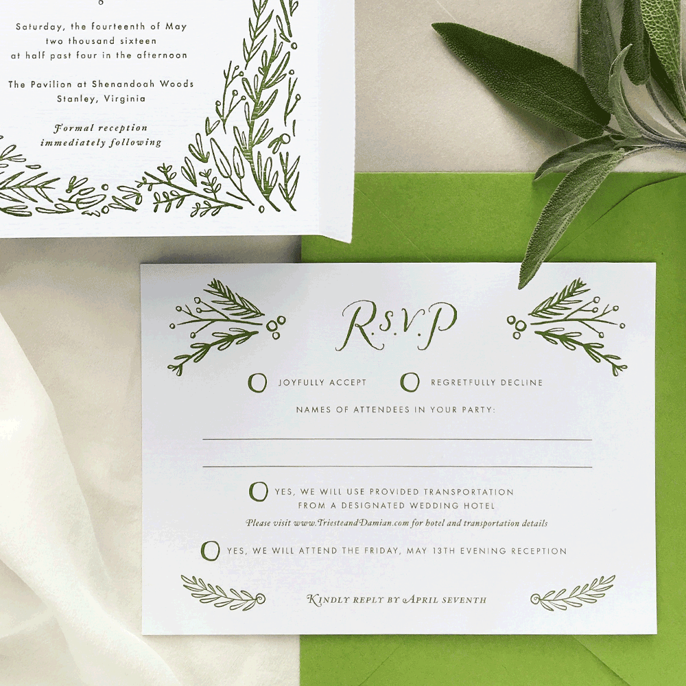 Wedding Stationery Custom Art - Delightful Things