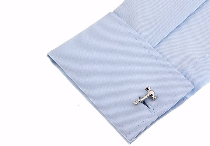Stainless steel gavel cufflinks for attorneys, solicitors, lawyers, counsel or just for fun. Bang! Bam!-Amicus Puree