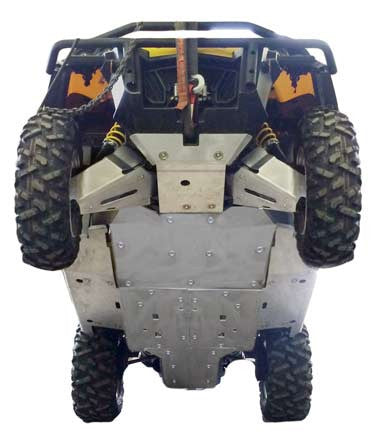 Ricochet Offroad 9-Piece Complete Aluminum Skid Plate Set, Can-Am Commander