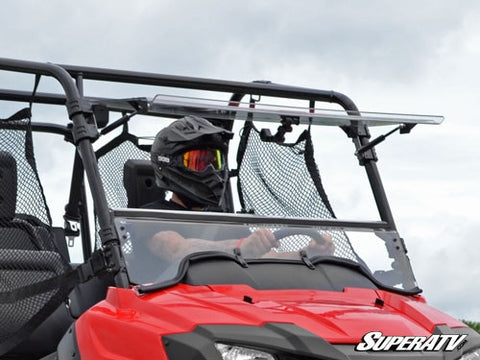 Super ATV Honda Pioneer 700 Scratch Resistant Flip Windshield