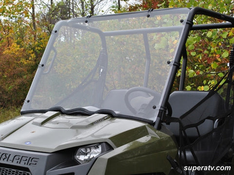Super ATV Polaris Ranger Midsize Scratch Resistant Full Windshield