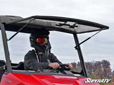 Super ATV Polaris Ranger Midsize Scratch Resistant Flip Windshield
