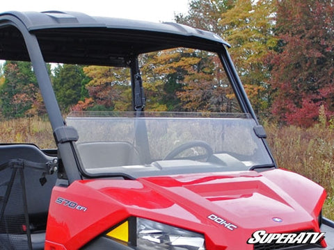 Super ATV Polaris Ranger Midsize Scratch Resistant Half Windshield (2015+)