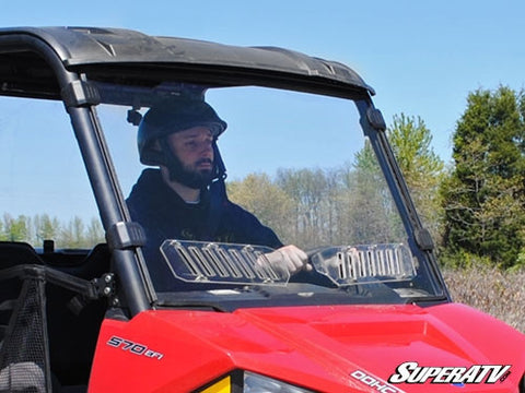Super ATV Polaris Ranger Midsize Scratch Resistant Vented Full Windshield (2015+)