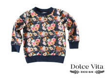 Load image into Gallery viewer, Sweatshirt, Flowers Marine