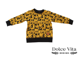 Sweatshirt, Yellow Bear