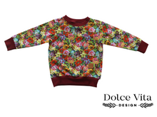 Load image into Gallery viewer, Sweatshirt,  Flowers Maroon